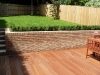 Brick garden retaining wall
