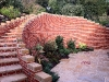 Large retaining wall and steps