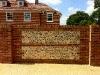 Brick and flint driveway wall