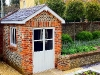 Brick and flint summerhouse