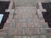 Reclaimed brick step section