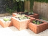 Interlocking square brick herb planters
