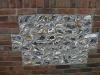 Knapped flint wall panel detail