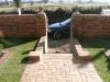 Brick boundary wall
