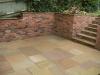 Brick garden retaining wall & steps