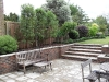 Brick garden retaining wall & steps