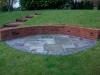 Reclaimed brick garden retaining wall