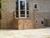 Brick Steps With Bespoke Oak Hand Rail