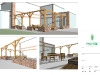 Brick & Oak Pergola - Perspectives