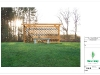 Pergola Elevation - Superimposed to garden
