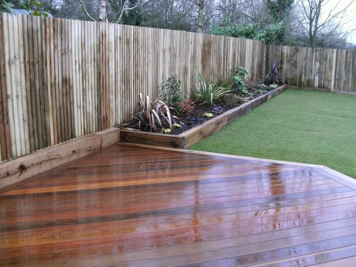 Decking installers hampshire surrey modern deck garden for Images of garden decking designs