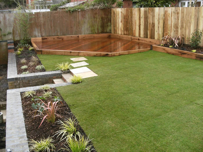 Decking installers hampshire surrey modern deck garden for Garden decking design ideas