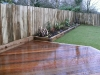 Ipe hardwood deck with architectural planting