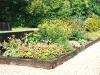 Traditional cottage style planting with informal plant arrangements