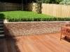 Large hardwood deck using profiled (grooved) deckboards