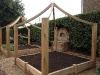 Raised Oak fruit and veg beds - Work in progress