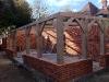 Seasoned oak frame for our summerhouse