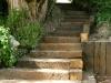 Reclaimed sleeper steps