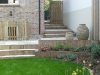 Oak retaining wall and steps
