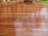 Ipe hardwood smooth surfaced deck boards when wet