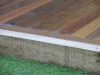 Joints of sleeper retainer and hardwood deck boards