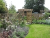 Softwood trellis and archway