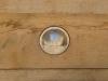 Recessed lighting in Oak wall