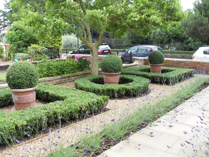 Garden design portfolio squares circles box new for Formal garden design