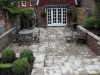 Large terraced area using Lonstone York stone effect paving