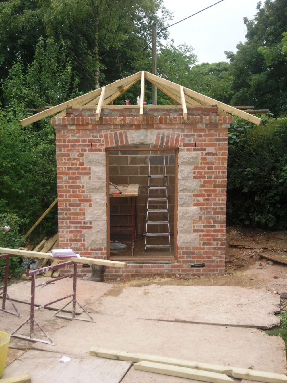 Summer house construction process for Process of building a house