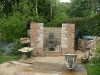 Outer rustic brick & stone walls, approximately two thirds complete