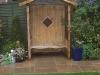 Timber seat arbour