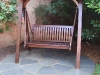 Timber swing seat arbour