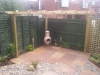 Custom made timber softwood pergola
