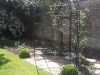 Metal framed arbour structure for climbing plants