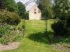 Metal framed archway structure for climbing plants