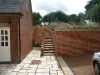 Side Brick Steps – Handmade bricks laid in Flemish bond
