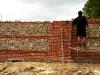 Lands Handmade Brick & Flint Wall - Work In Progress