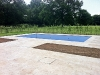 Swimming Pool, Travertine Paving Surround - Complete