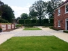 Reclaimed Granite Cobble Court Yard & Formal Lawn