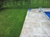 Swimming Pool, Travertine Paving Surround - Work In Progress