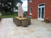 Travertine Paving To Rear Of House