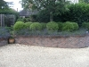 Raised front garden brick built borders