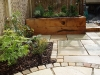 Raised new oak sleeper planter