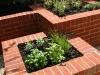Interlocking squares, raised brick built planters