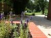 Interlocking squares raised brick built planters