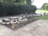 Raised rockery dry stone border