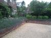 Raised front garden brick built borders
