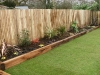 Low level new oak sleeper retained border