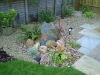 Feature scree corner with standing stone feature